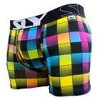 Sly Underwear Hyper Plaid Mens Boxer Brief BUWHYP Multi