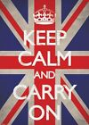 New Union Jack Keep Calm & Carry On Giant Poster