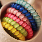 1~5pcs Telephone Wire Cord Head Rings Hair Band Ponytail Holder Candy-colored JR