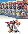 Power Rangers Kyurenoh Kyuranger Mini Pla Figure Vol. 2 Set of 6 mini Pla Gattai