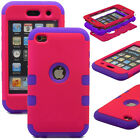 Hybrid Shockproof 3 in 1 Case Cover For Apple iPod Touch 4 4th Gen Generation 4G <br/> *3 FREE GIFTS* Same day Ship before 3PM