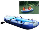 2-4 Person Inflatable Boat Inflatable Boat Set With Oars & Air Pump Fishing Raft