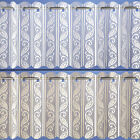 Filigree - Lace Net Voile Curtain Panels with Vertical Pleats - Ivory or White