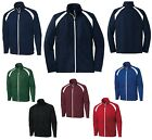 MEN'S RELAXED FIT, ATHLETIC STYLE, LONG SLEEVE, ZIP UP, WARM-UP JACKET, S-4XL