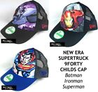 NEW ERA DC/MARVEL COMICS SUPERTRUCK 9FORTY ADJUSTABLE CHILDS CAP - ASSORTED