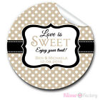 1xA4 sheet Personalised Wedding Day Favours Stickers Labels love is sweet dots
