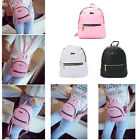 Faux Leather School Bag Travel Small Backpack Satchel Women Shoulder Rucksack