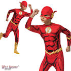 FANCY DRESS COSTUME ~ BOYS DC COMIC BOOK THE FLASH AGES 3-10 YEARS