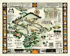 1928 Pictorial Map Syracuse University Campus Reprint Ready to be Framed Poster
