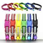 Adjustable Pet Dog Puppy Cat Collar Soft Glossy Reflective Safety Buckle + Bell