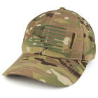 American Flag Embroidered Ripstop Multicam Low Profile Cap (ROTH-99881)