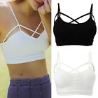 Women Cross Strappy Bra Tank Top Bustier Vest Crop Top Bralette Blouse Tops Cami