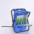 Multi-Function Backpack Foldable Chair w/ Cooler Bag for Fishing Camping Hiking
