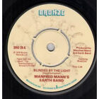 "MANFRED MANN'S EARTH BAND Blinded By The Light 7"" VINYL Four Prong Label Desig"