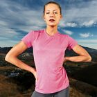 Womens J2X Fitness Sport Gym Running T-Shirt Top Pink Marl