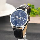 Men's Business Quartz Dial Analog Faux Leather Student Casual Dress Wrist Watch