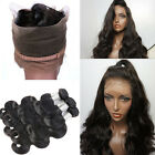 Pre Plucked 360 Full Lace Frontal closure With Bundles Indian Virgin Human Hair