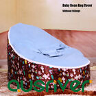 Clearance Blue Baby Resting/Feeding Chair Bean Bag Cover 3 Point Harness Seat