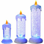 Pre-Lit LED Magical Colour Changing Floating Glitter Candle Multi Colour