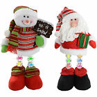 Pre-Lit Novelty Santa Snowman with LED Light Up Legs Christmas Decoration