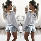 Womens Long Sleeve Shirt Casual Blouse Loose Summer Fashion Cotton Tops T Shirt