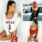 NEW Women Sexy  V Neck Basketball High Cut Monokini Swimsuit Jumpsuit Bodysuit