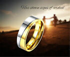 Sz 7-10 Party 6mm Men/Women's Band Rings Weeding Fashion Jewelry Stainless Steel