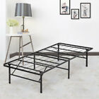Modern Bi-Fold Folding Platform Metal Bed Frame Mattress Foundation BF