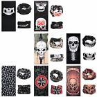 Skull Bandana Motorcycle Bike Scarf Helmet Neck Warmer Face Mask Riding Cycling