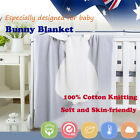 Baby Toddler Kid Knit Blanket 100% Cotton Sleeping Quilt Wrap Warm Cot Pram Soft