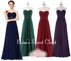 ESTHER Various Colours Lace Full Length Prom Evening Bridesmaid Dress UK 8 - 20
