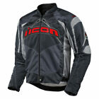 Icon Mens Slate Grey Textile Contra Motorcycle Jacket