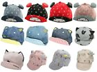 Baby Boy Girl Cotton Peak Baseball Cap Sun Hat Black Cat Age 3/6/9/12/18 Months