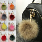 New Farm Real Fur Big Pompom Keyring Bag Decor Chrams Pom Pendant Phone Keychain