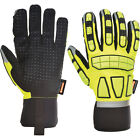 Portwest Unisex Safety Impact Glove Unlined Yellow Various Size A724