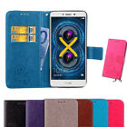 Luxury Card Holder Leather Flip Wallet Case Stand Lucky Floral Cover For Huawei