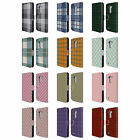 HEAD CASE DESIGNS PLAID PATTERN LEATHER BOOK WALLET CASE COVER FOR LG PHONES 1