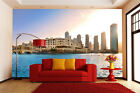 3D Seaside City Scenery Wall Paper Print Decal Wall Deco Indoor wall Murals Home