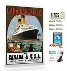 CANADIAN PACIFIC CANADA TO AMERICA VINTAGE TRAVEL POSTER
