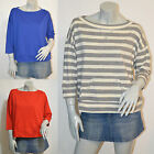 Razzle Dazzle Gray Blue Red Sweater Top size Medium Brand New