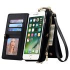 Card Slot Wallet Folio PU Leather Case Detachable Magnetic Hard Case For Samsung