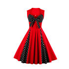 New Women Swing Dresses Retro Cocktail Rockabilly Sleeveless 50's Vintage