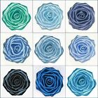 "Handmade 3"" Rose w/ Berisford Bridal Craft DIY Corsage Dress Trim 5cm 8cm BLUES"