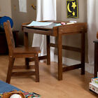 Wood Storage Chalkboard Desk Chair 2 Piece Set Home Kid's Be