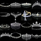 CO Bridal Wedding Crystal Flower Tiara Crown Pearl Rhinestone Hair Band Headband