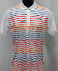 Puma Golf Road Map COOLMAX Polo Shirt - Bright White High Risk Red - 2017 Style