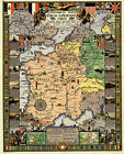Early History War Map American Expeditionary Force WWI Military Battles Poster