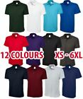 Mens & Womens Active Polo Shirt Short Sleeve Work Strong Light Casual Top Lot
