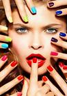 Nail Bar Parlour Gel Nails Manicure advertising poster A2, A1, A0 sizes