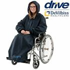 Waterproof Wheelchair Rain Mac Cape. Padded Lining Long Sleeves and Hood.